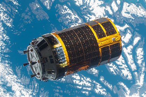 HTV-5, as seen from the International Space Station