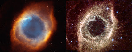 Hubble vs. Spitzer