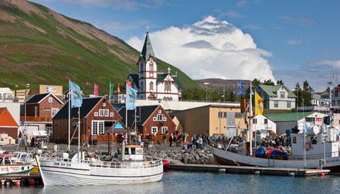 Coastal town on Iceland