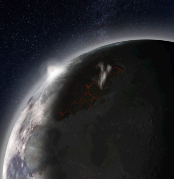 Moon's ancient atmosphere