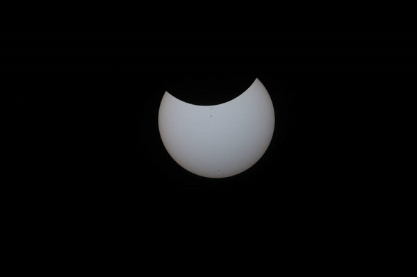ISS partial eclipse