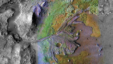 Image of Jezero Crater on Mars