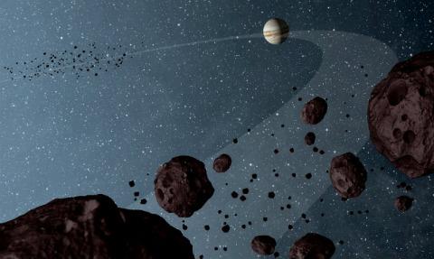 Illustration of Jupiter Trojans