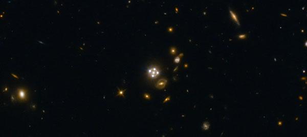 Gravitationally lensed quasar
