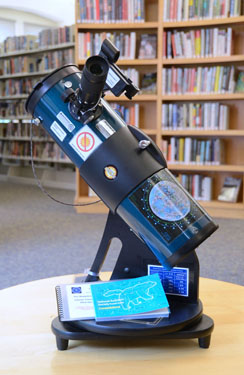 Orion StarBlast 4.5 in a library