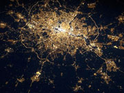 London as seen from space