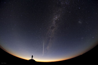 Comet Lovejoy over Australia