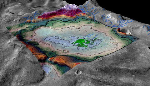 Ancient Mars Lakebed
