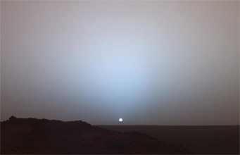 Sunset over Mars's Gusev Crater