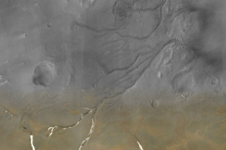 Superimposed: Mars river valley networks and Devon Island channels