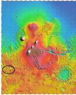 Topographic map of Mars