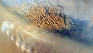 Image of Martian dust storm