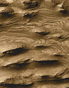 Martian layered terrain
