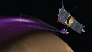 MAVEN detects aurora
