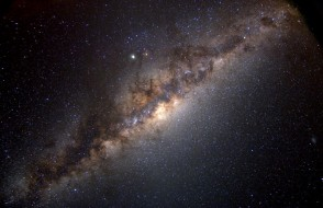 The band of the Milky Way, across the night sky. Our Sun is only one of a 100 billion stars in our galaxy. Serge Brunier