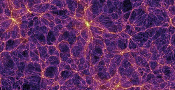 cosmic web in modern universe, simulation