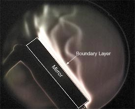 In the past, tube currents (warm air rising up the length of a telescope tube) were thought to be the principal thermal problem in reflectors, but it now seems clear that the 'boundary layer' of warm air directly in front of the primary mirror is the chief culprit.