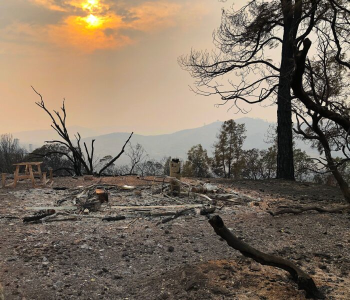 Observatory site after the fire