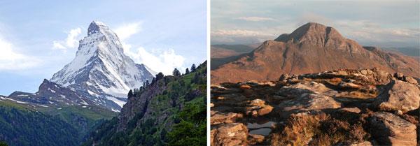 peaky peak vs. gradual peak