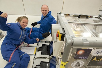 Murdoch and Rozitis in microgravity