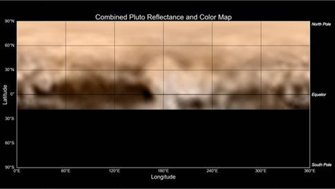 New Horizons' first map of Pluto