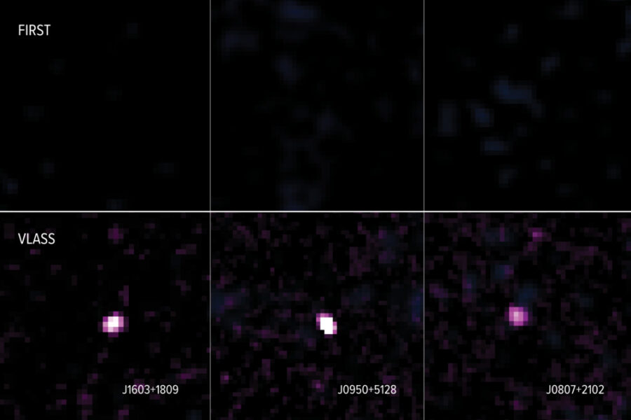 before and after images of active galaxies