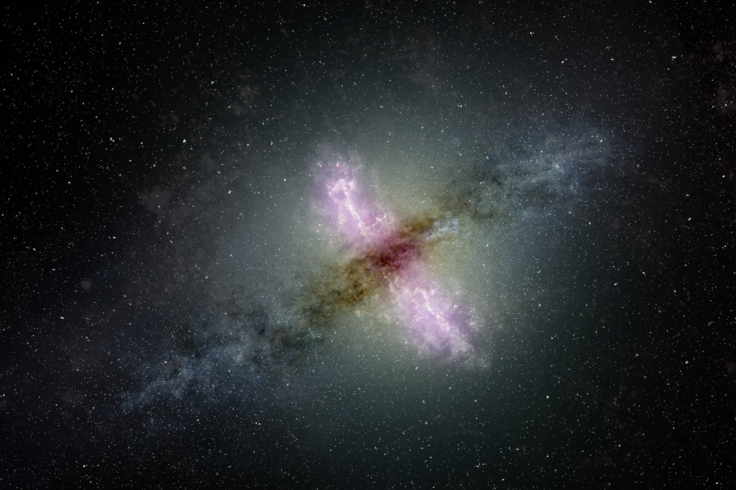 illustration of active galaxy