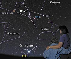 Sky with Constellation Lines and Labels