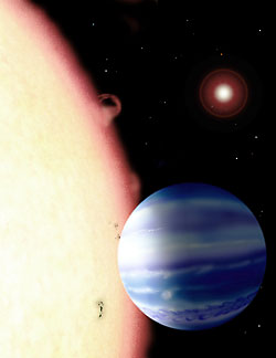 Broiling exoplanet
