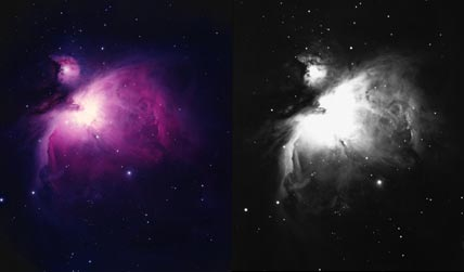 Colorful Orion Nebula