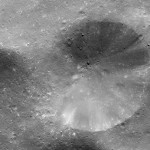 Closeup of 8-mile crater