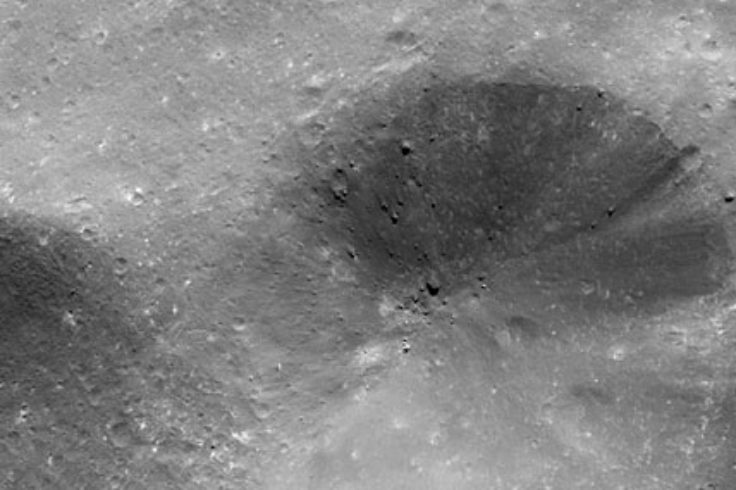 Closeup of 8-mile crater