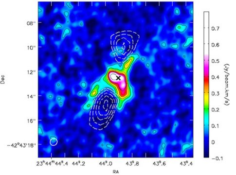 contours of filaments and bubbles