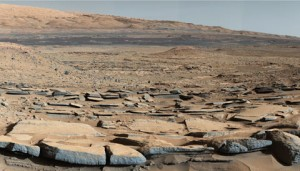 Gale Crater and slopes of Aeolis Mons