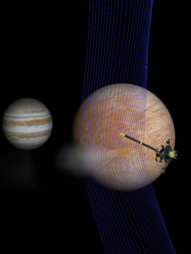 Illustration of Galileo at Europa