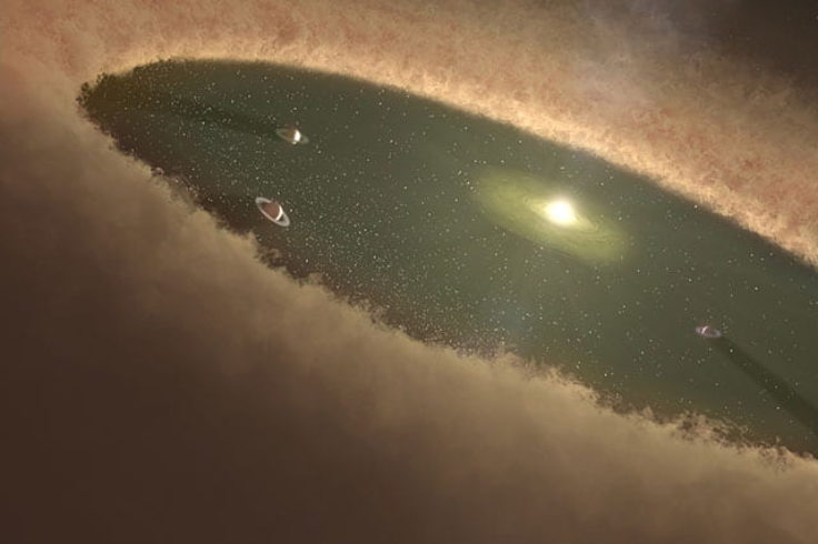 Planet formation (artist's concept)