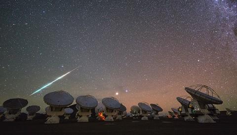 Fireball over ALMA
