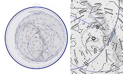 Special planisphere showing precession