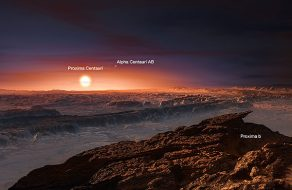 illustration of Proxima Centauri b