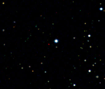 Image of the new most distant quasar ULAS J1120+0641.