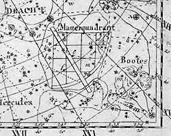 Old star map showing the constellation Quadrans