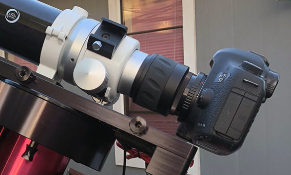 DLSR on a Telescope