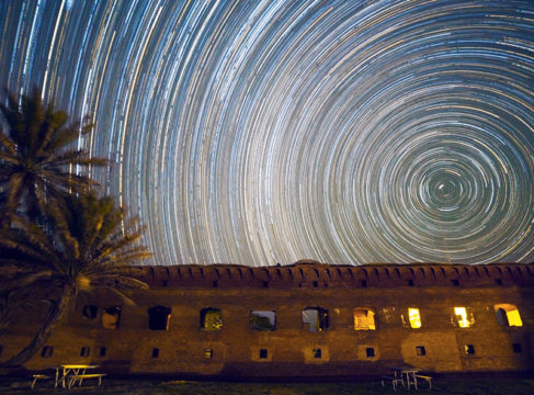 Star trail nightscape