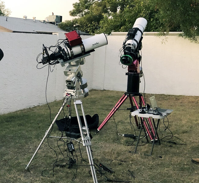 Imaging from a backyard