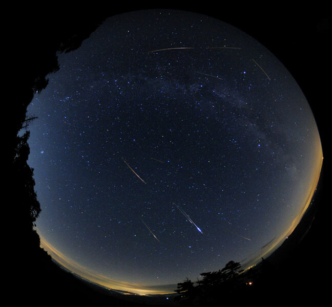 Fisheye Meteor Shower