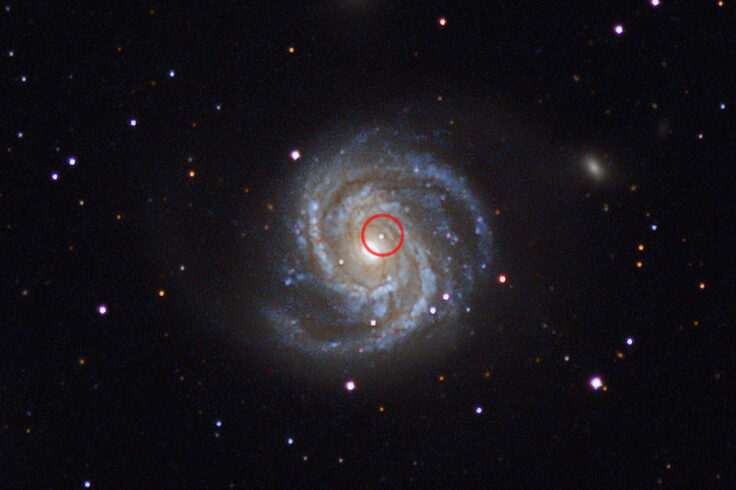 Supernova in a galaxy