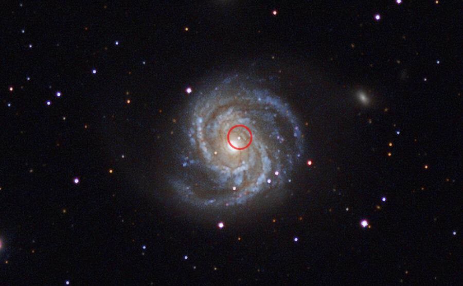 Super nova in a galaxy