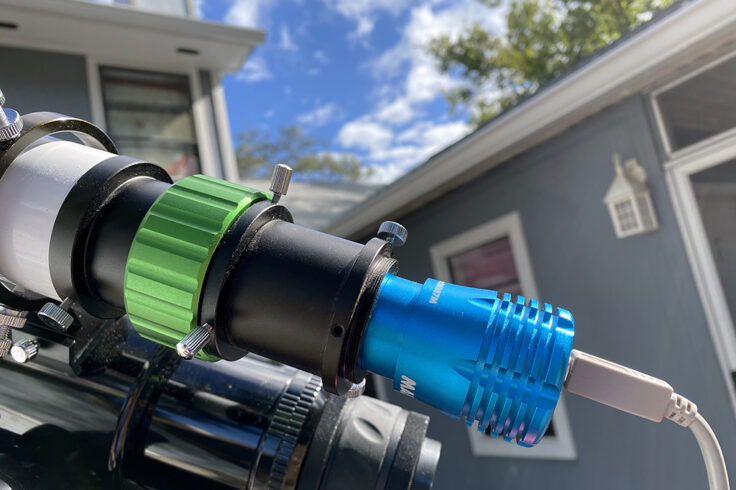 Closeup of a modern high speed camera
