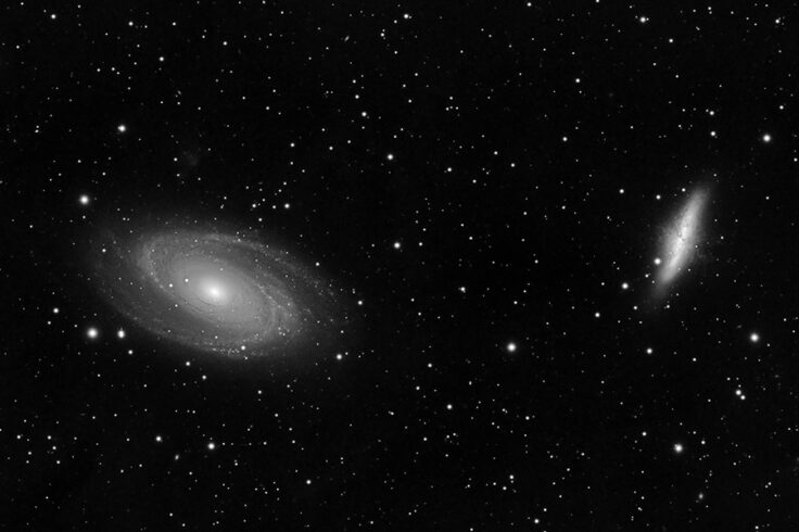 Luminance image of M81 and M82