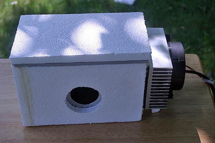Cooling box for DSLR